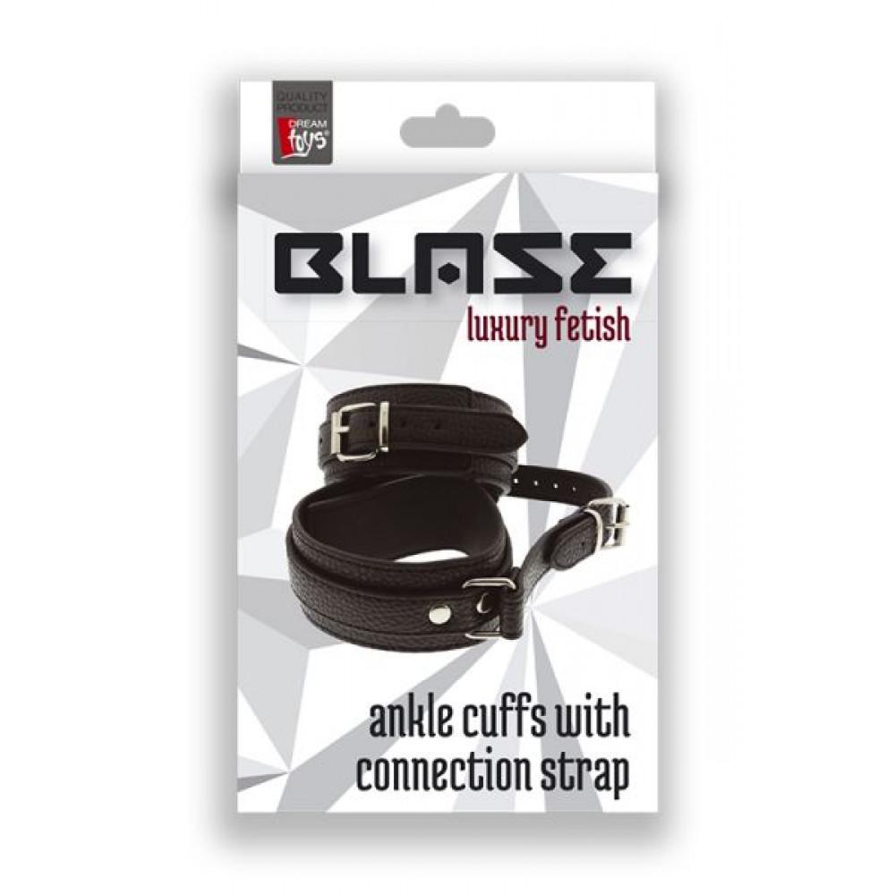 БДСМ наручники - Оковы BLAZE ANKLE CUFFS WITH CONNECTION STRAP 1