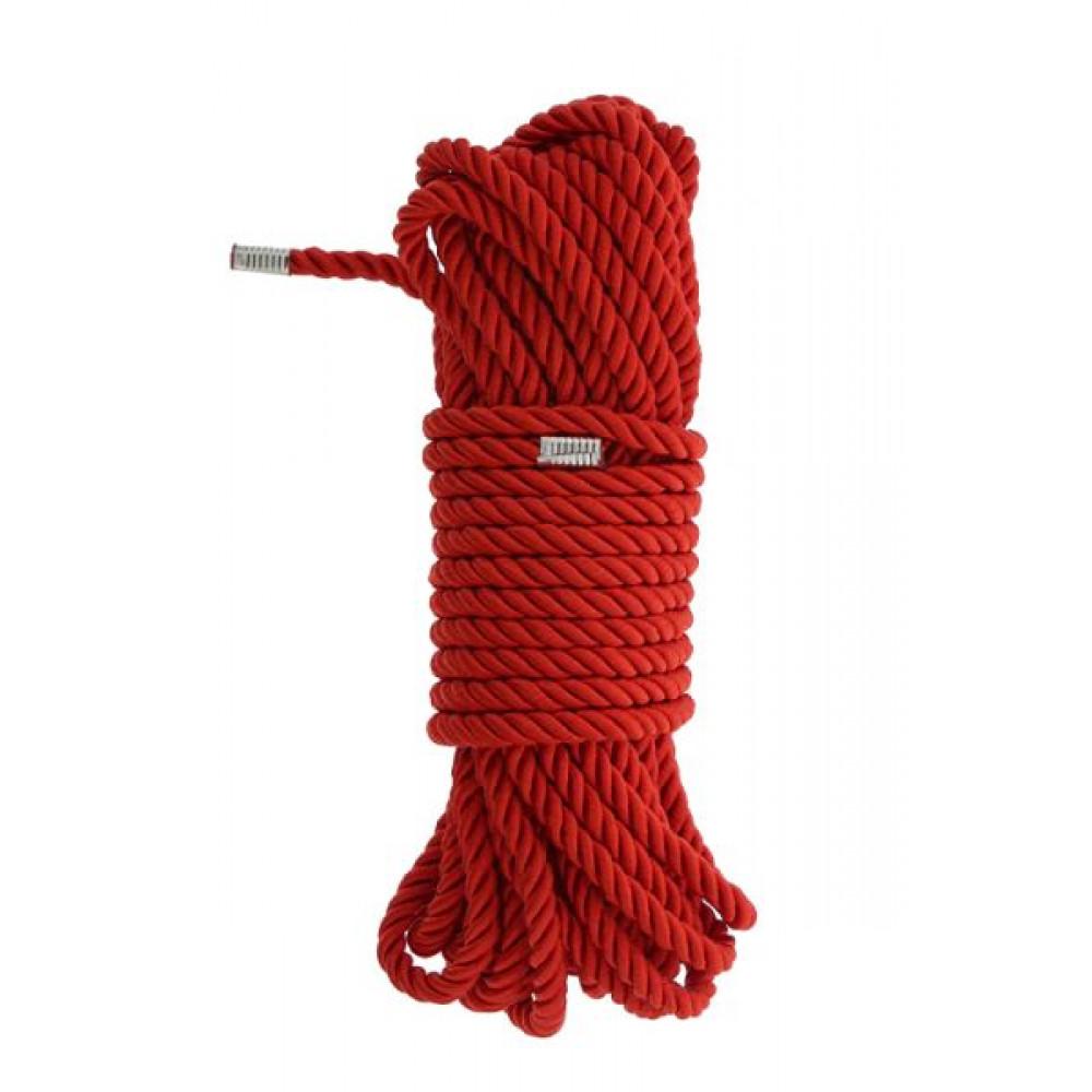 БДСМ аксессуары - Веревка для бондажа BLAZE DELUXE BONDAGE ROPE 10M RED