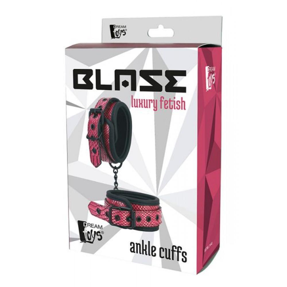 БДСМ наручники - Оковы наножники BLAZE ANKLE CUFFS PINK 1