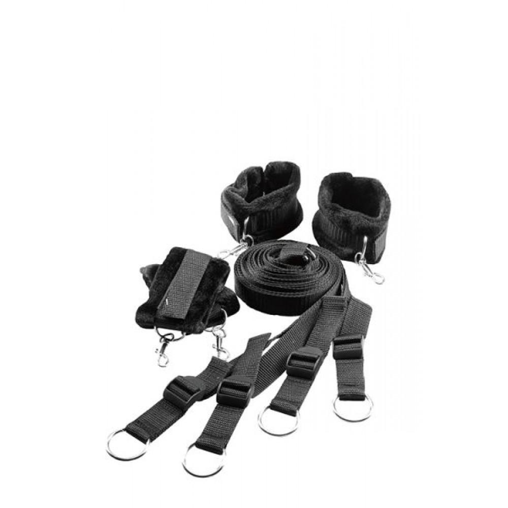 БДСМ наручники - Ременная система для фиксации к кровати BLAZE BED RESTRAINT SET