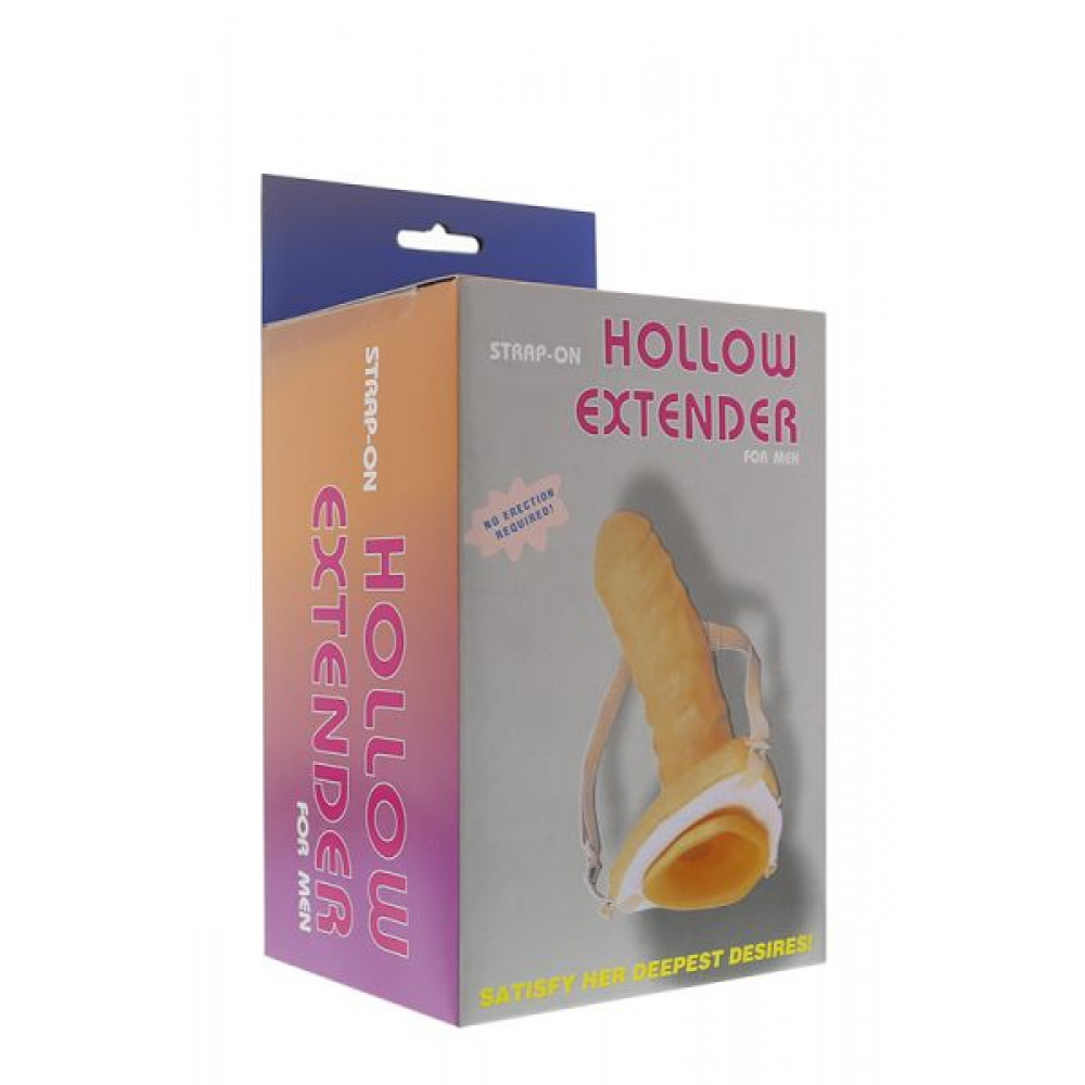 Классические страпоны - Полый страпон STRAP-ON HOLLOW EXTENDER 1
