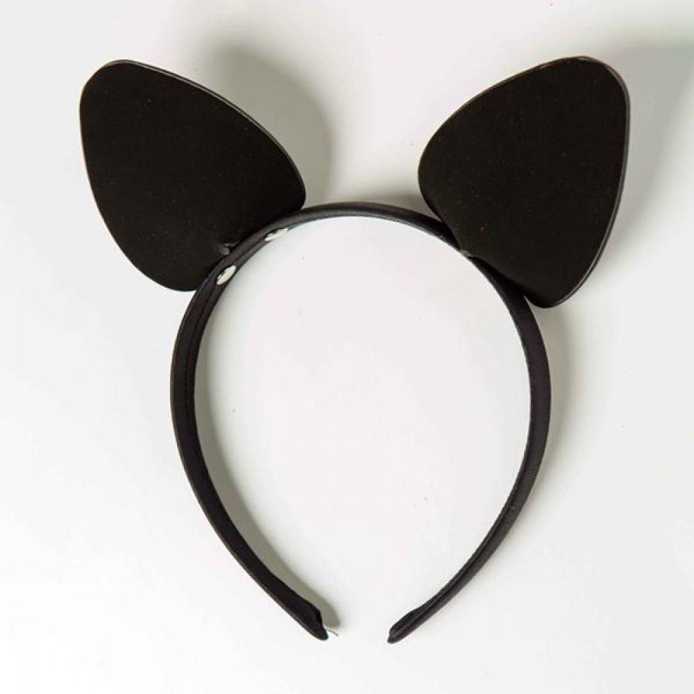 Маска для БДСМ - Ободок c ушками «Игривая Кошечка», Black 1