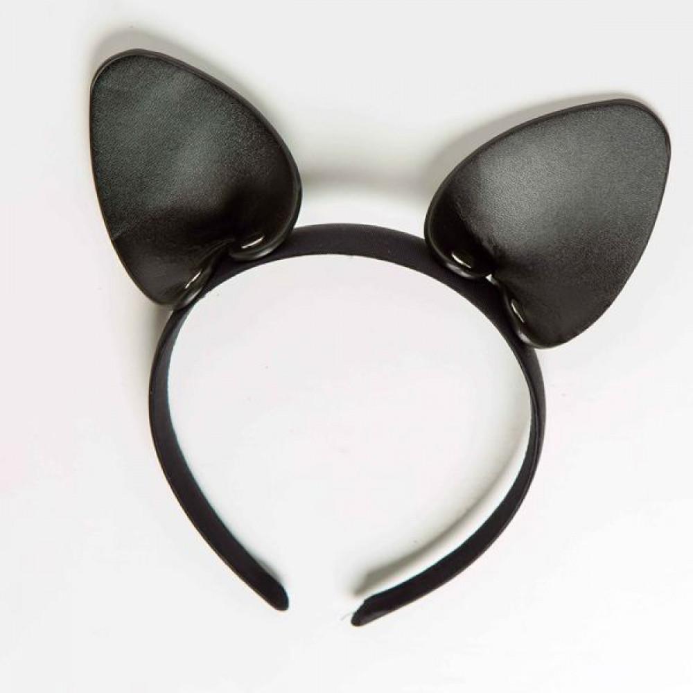 Маска для БДСМ - Ободок c ушками «Игривая Кошечка», Black