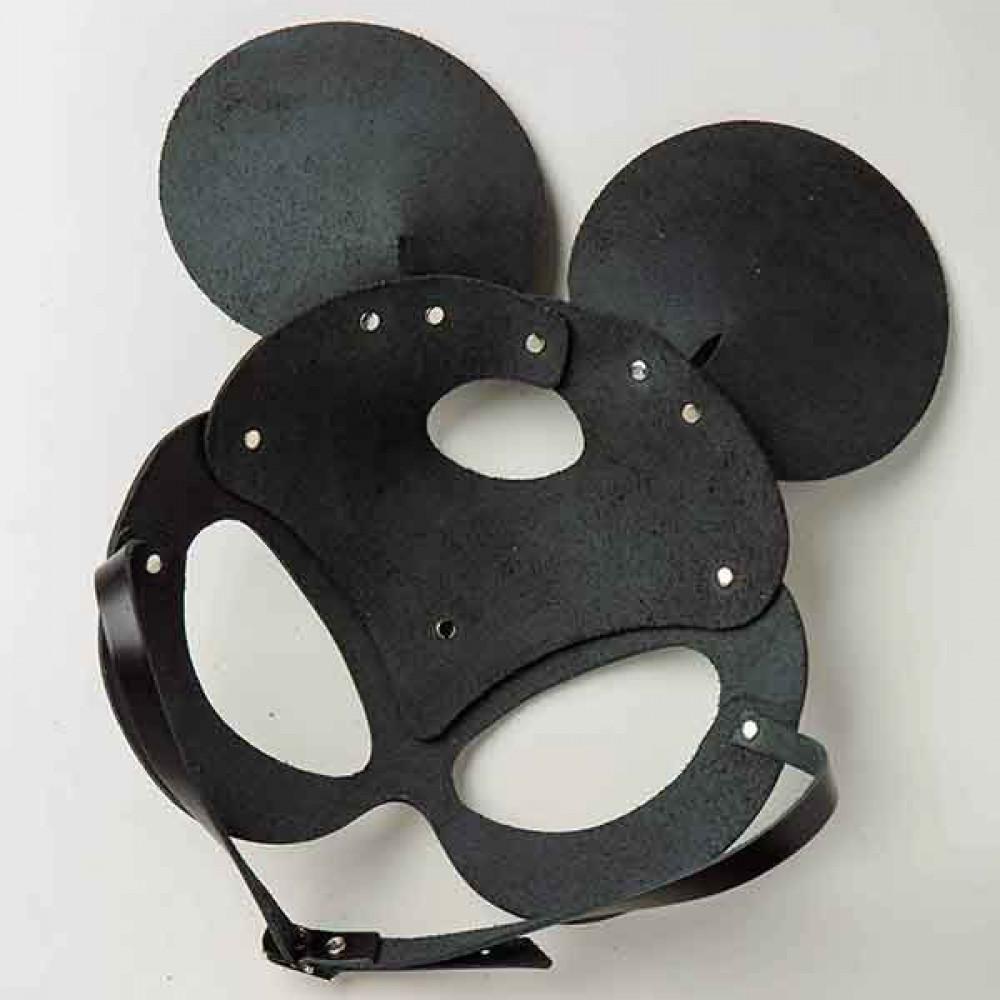 Маска для БДСМ - Маска Mickey Mouse Leather, Black 3