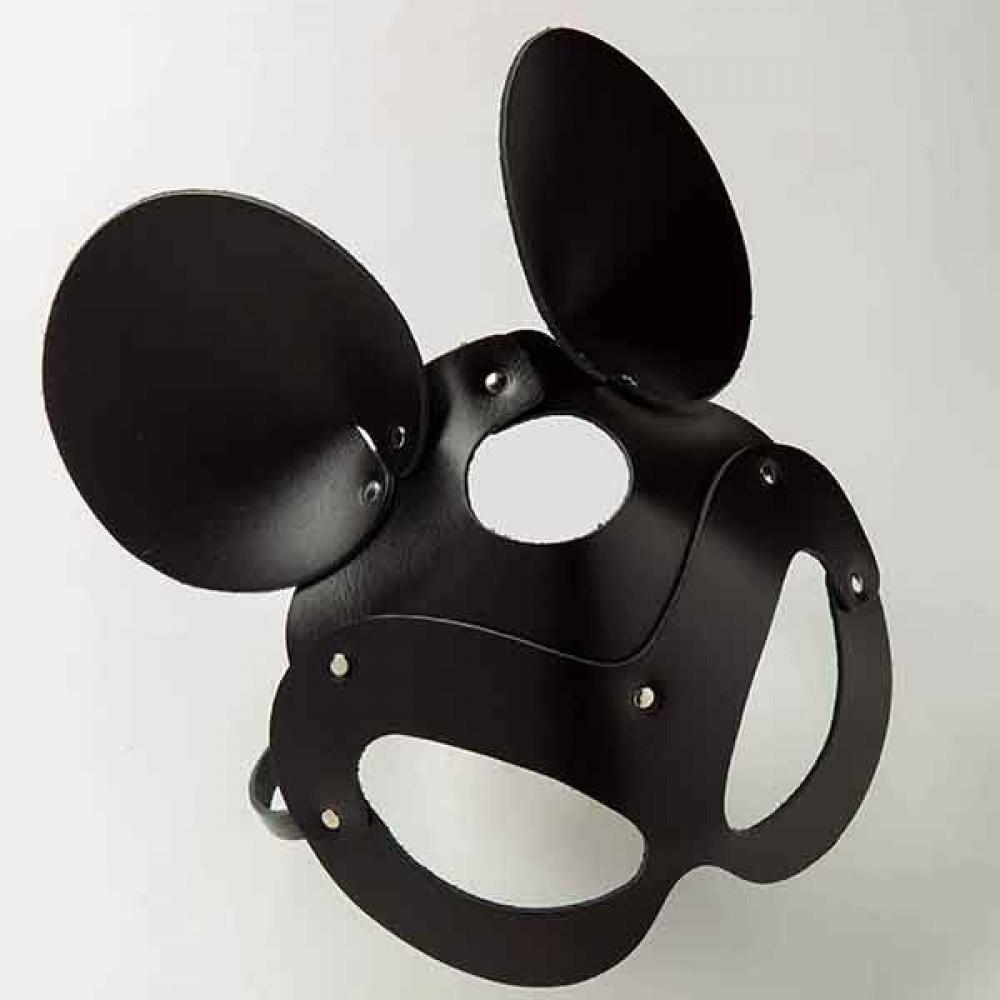 Маска для БДСМ - Маска Mickey Mouse Leather, Black 2