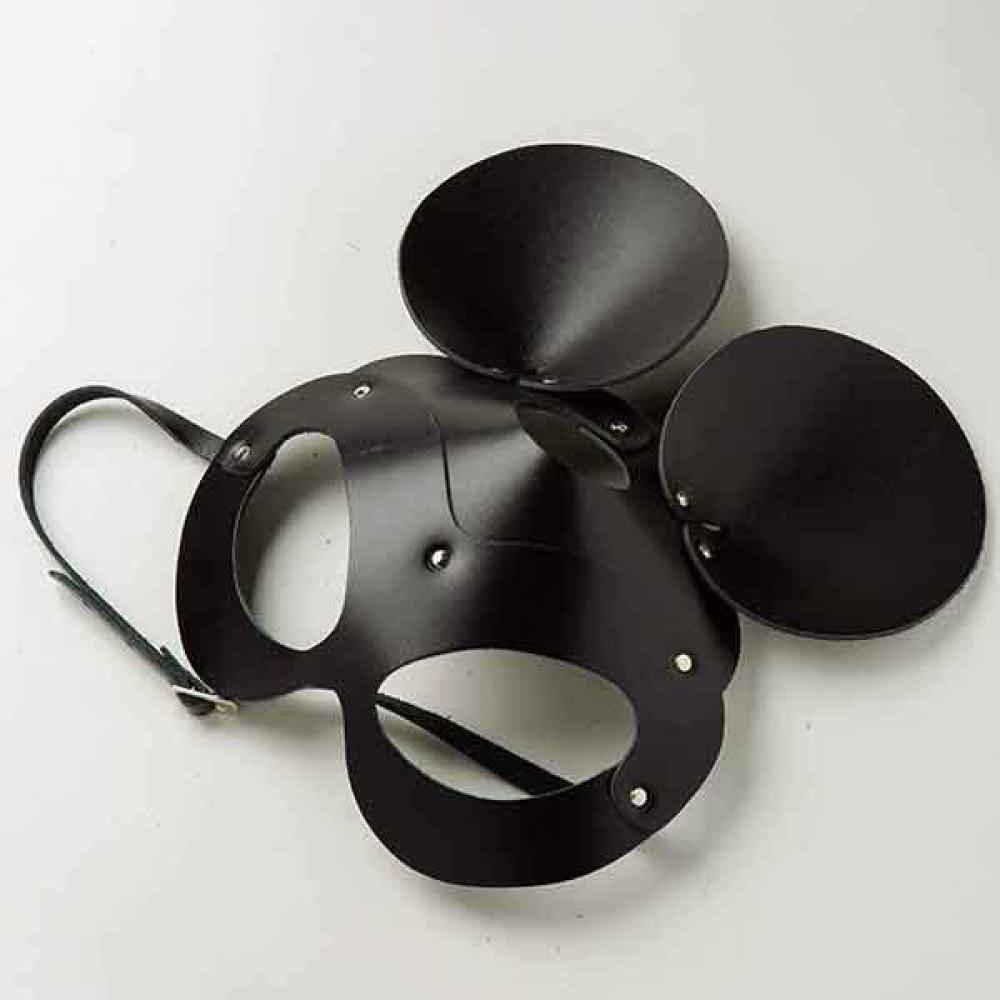 Маска для БДСМ - Маска Mickey Mouse Leather, Black 1