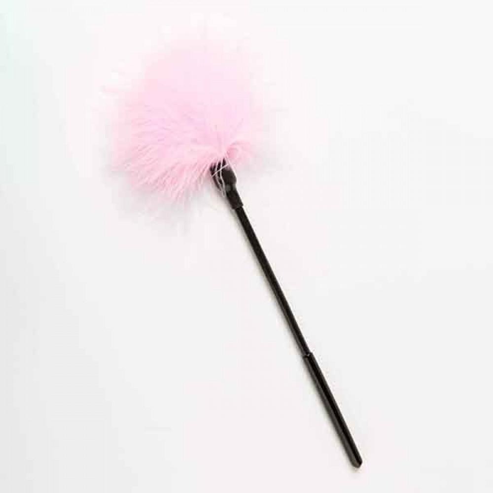 БДСМ плети, шлепалки, метелочки - Перышки Для Шалостей Long Handle, Pink