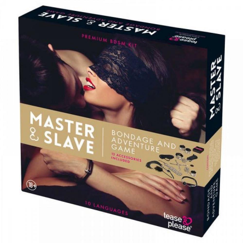 Наборы для БДСМ - Набор БДСМ  10 предметов Master & Slave, Leopard 1