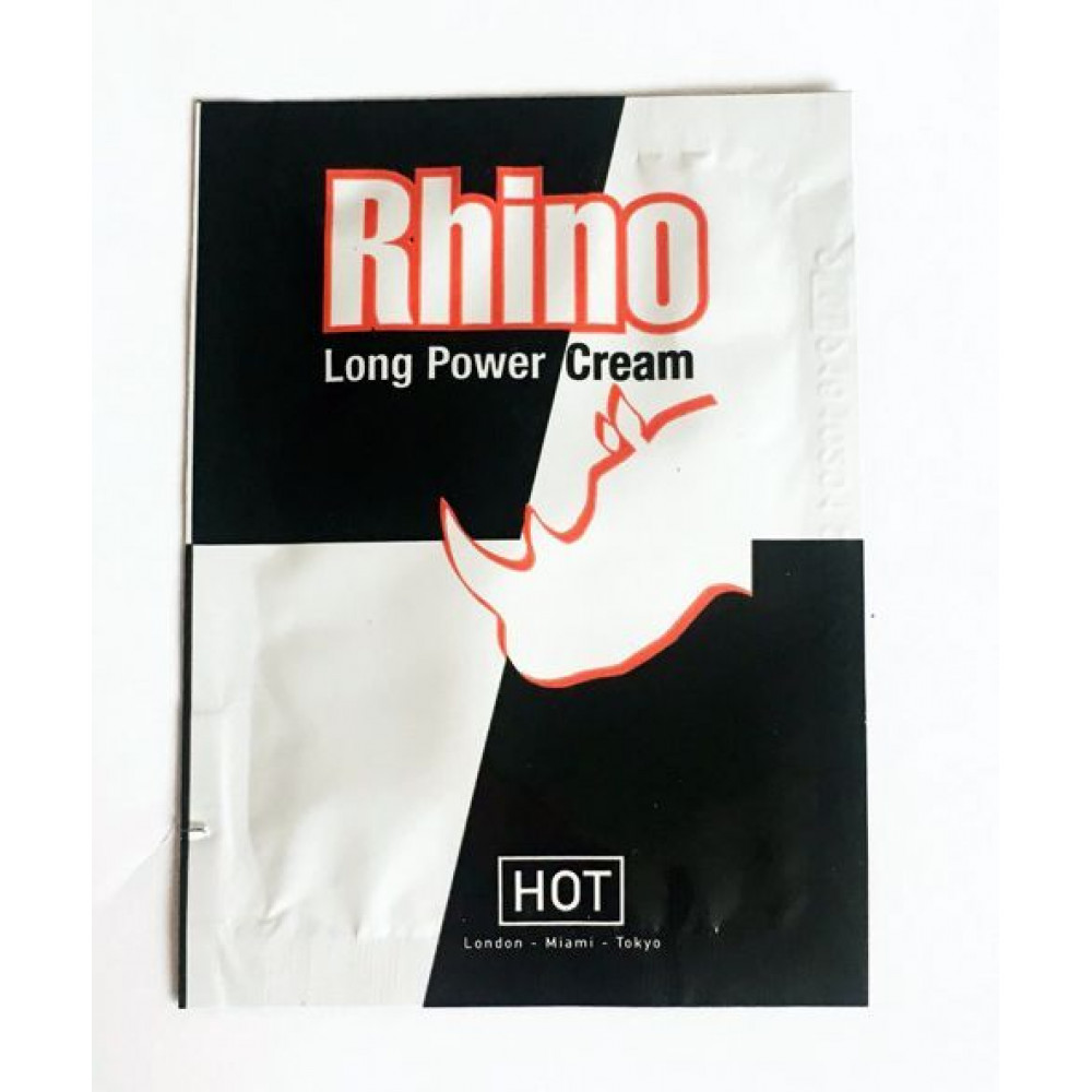 Стимулирующие средства и пролонгаторы - Продлевающий крем Rhino Long power Cream (пробник), 3 мл