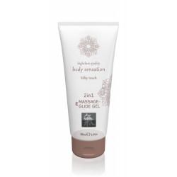 Лубрикант и массажное масло 2 в 1 Massage-& Glide gel 2in1 Silky touch, 200 мл