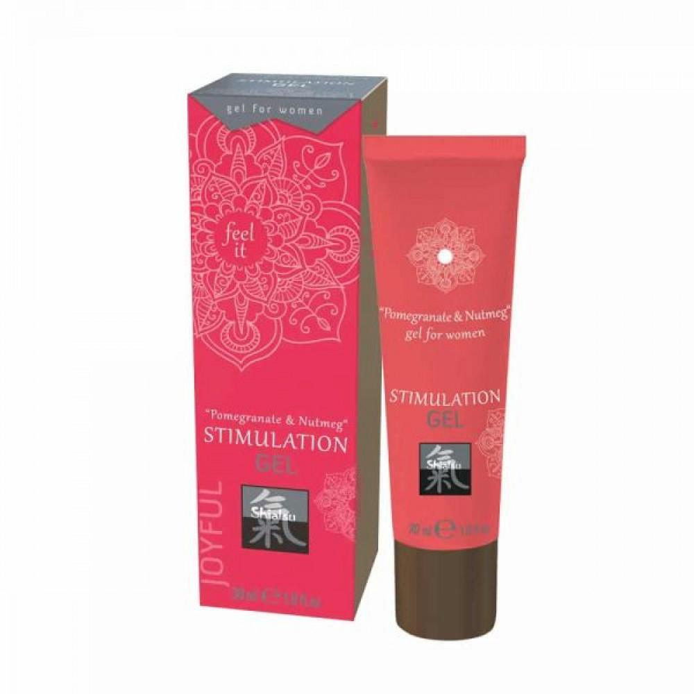 Стимулирующие средства и пролонгаторы - Гель для интимной стимуляции Shiatsu Гранат и Мускатный орех, 30 мл