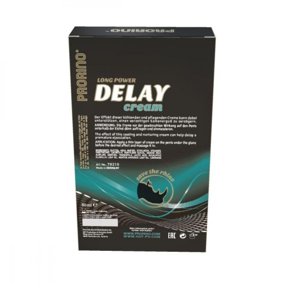 Стимулирующие средства и пролонгаторы - Крем прологантор для мужчин Prorino Delay Cream, 50 мл 2