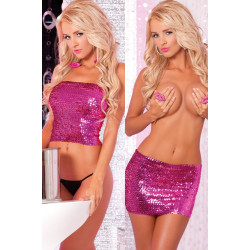 Топ-юбка Sequin Tube Top or Skirt Pink M/L
