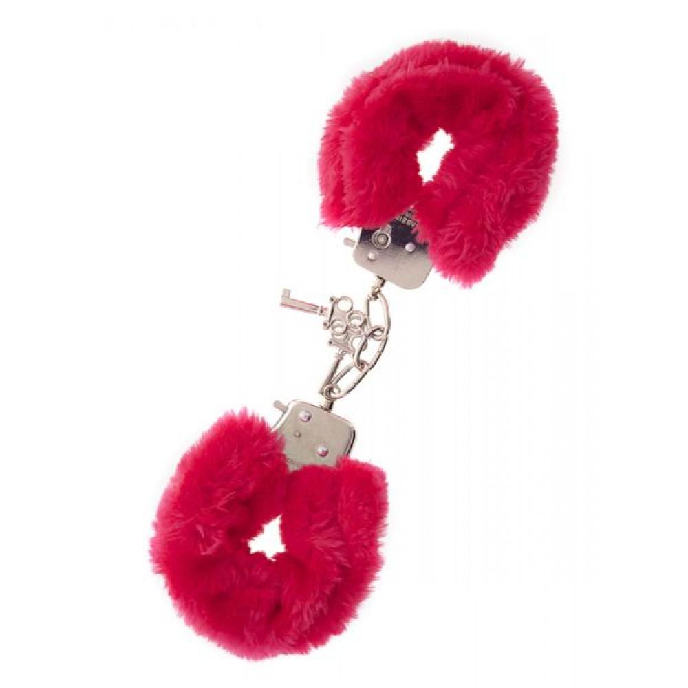 БДСМ наручники - Наручники,Metal Handcuff with Plush, RED