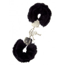 Наручники METAL HANDCUFF WITH PLUSH, BLACK