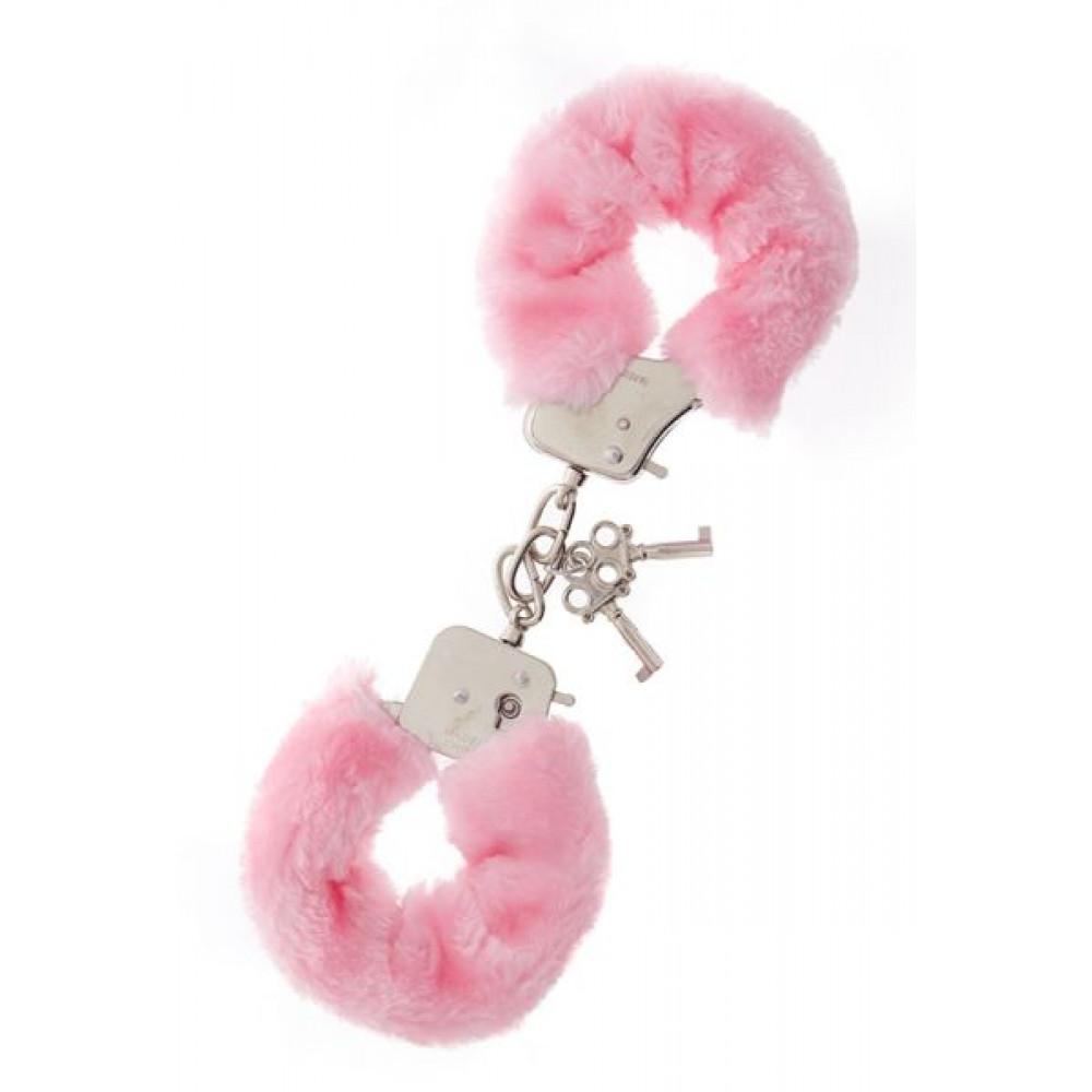 БДСМ наручники - Наручники Metal Handcuff with Plush, PINK