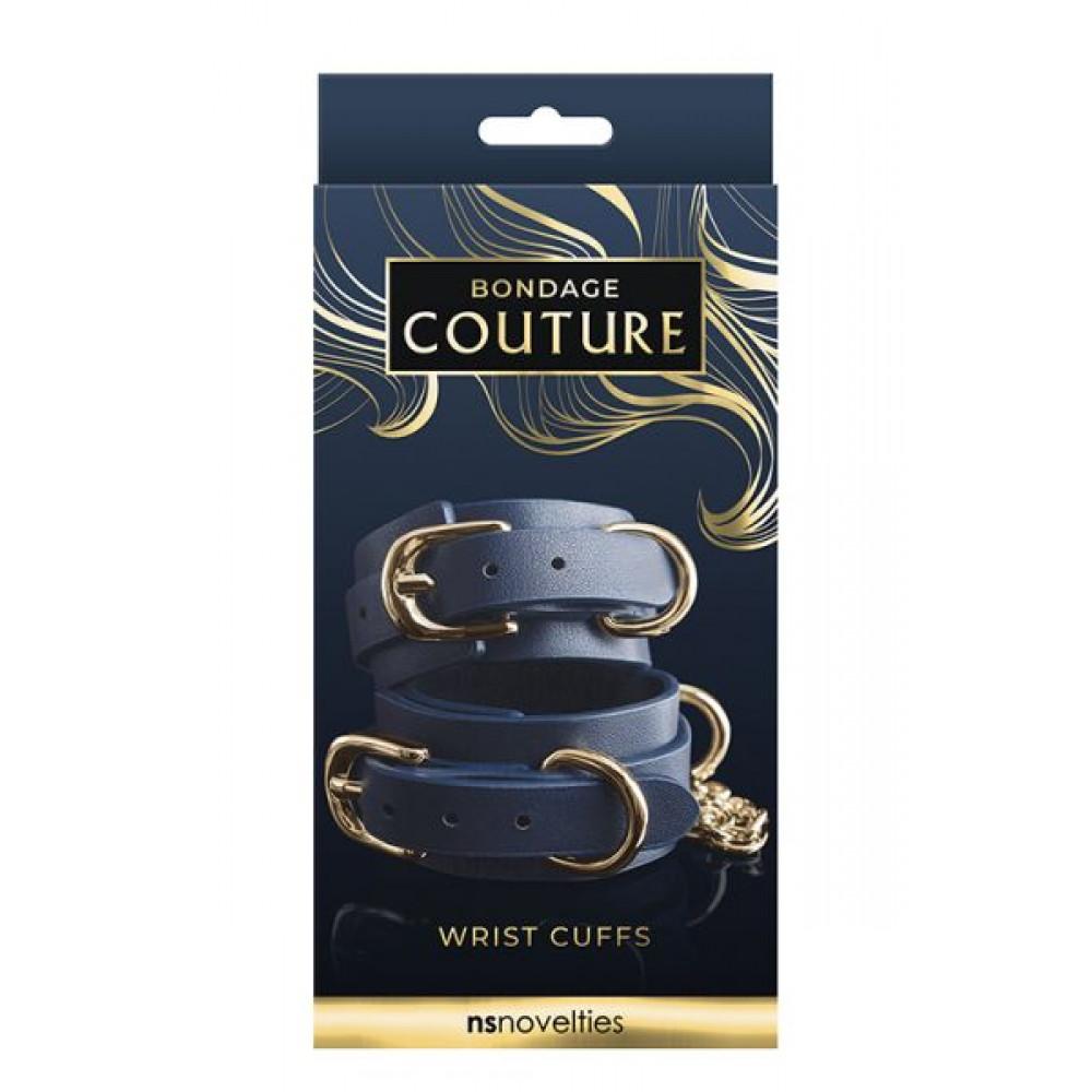 БДСМ наручники - Оковы BONDAGE COUTURE WRIST CUFF BLUE          1