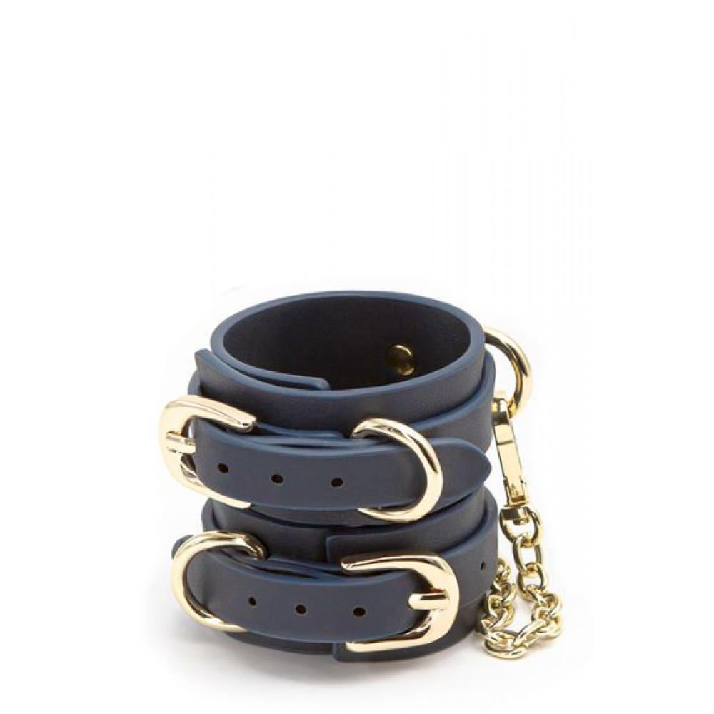 БДСМ наручники - Оковы BONDAGE COUTURE WRIST CUFF BLUE