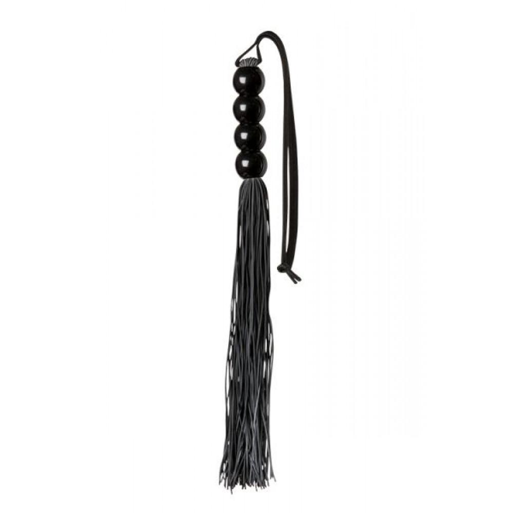 БДСМ плети, шлепалки, метелочки - Флогер GP SILICONE FLOGGER WHIP BLACK 1