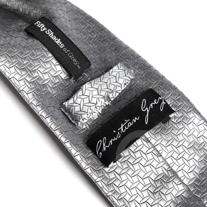 БДСМ наручники - Серебристый галстук ГАЛСТУК КРИСТИАНА ГРЕЯ, Fifty Shades of Grey 2