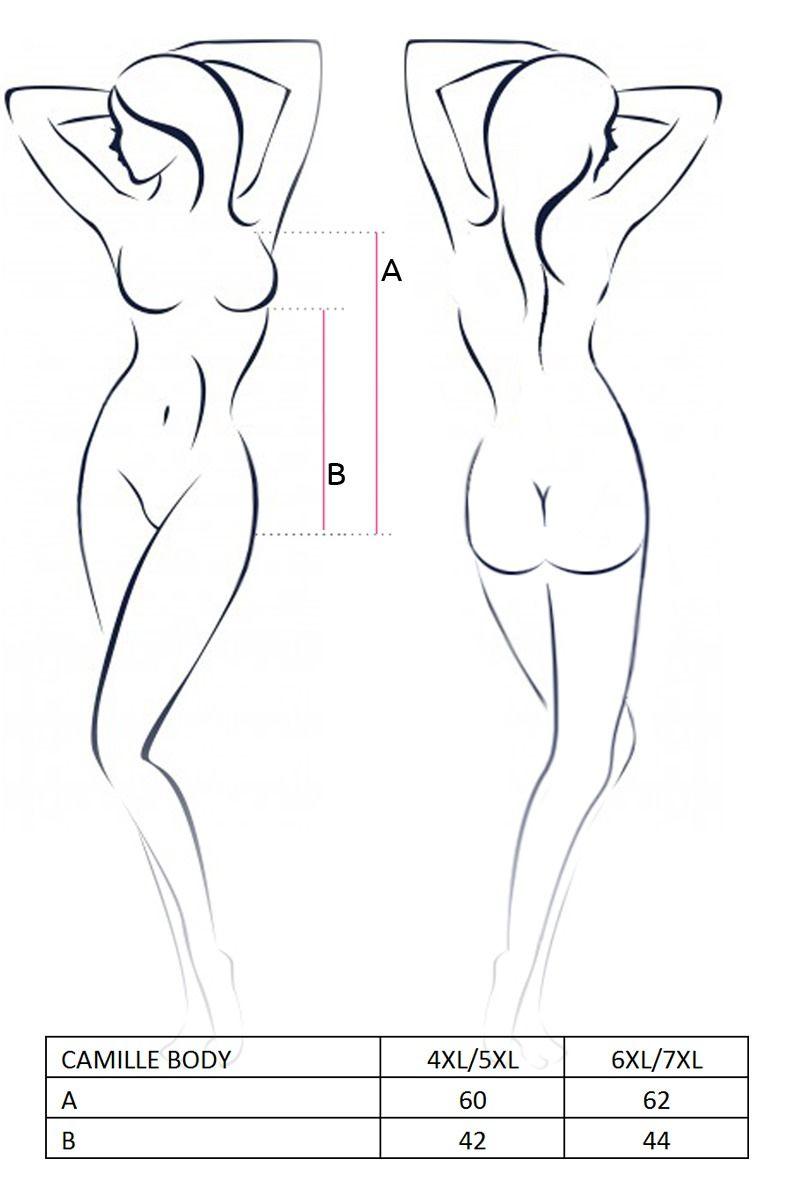 Боди большого размера - CAMILLE BODY black 4XL/5XL - Passion 2