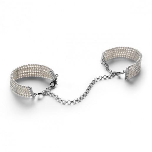 БДСМ наручники - Браслеты - наручники PLASIR NACRE белый жемчуг, Bijoux Indiscrets 6