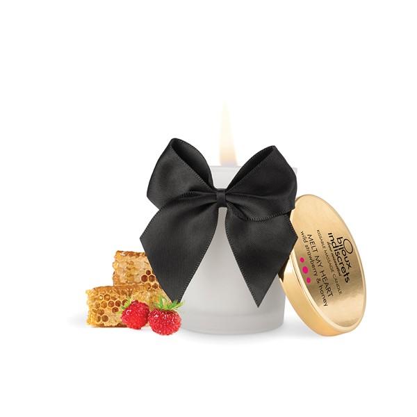 Массажные свечи - Массажная свеча MELT MY HEART земляника и мёд, 70 гр, Bijoux Cosmetiques