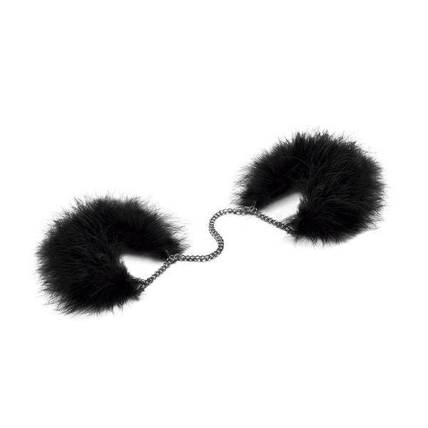 БДСМ наручники - Наручники Bijoux Indiscrets Za za zu - feahter handcuffs