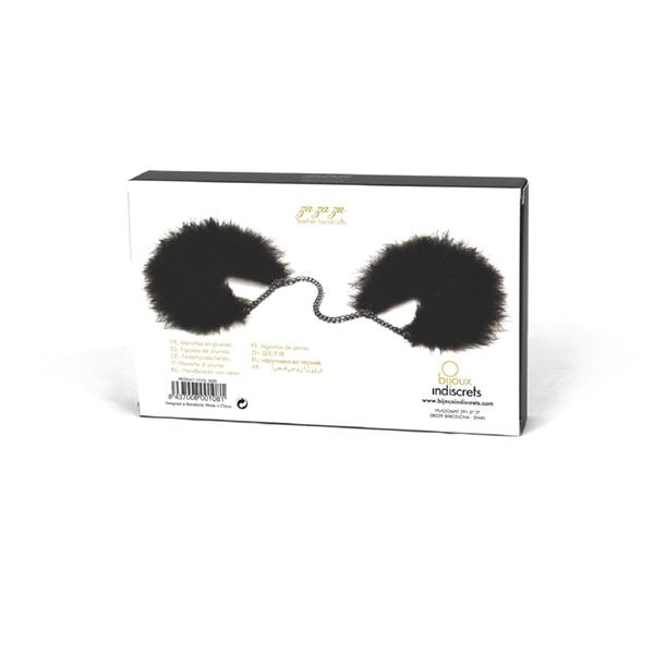 БДСМ наручники - Наручники Bijoux Indiscrets Za za zu - feahter handcuffs 4