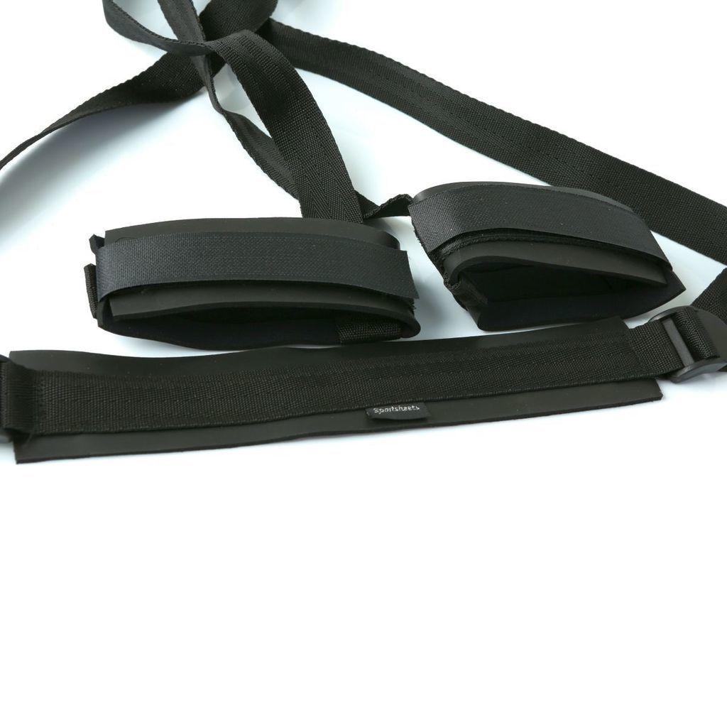 БДСМ аксессуары - Система ремней для поддержания ног Sportsheets Sex Sling Black 3