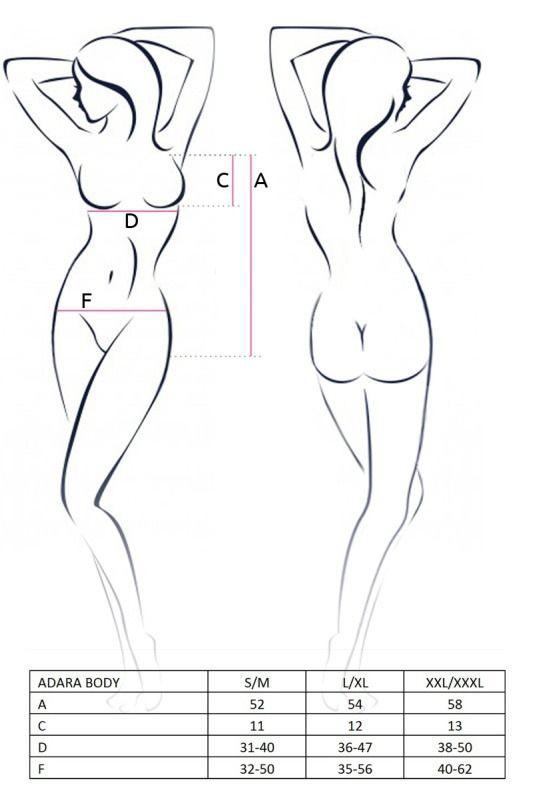 Эротическое боди - Монокини с ромбовой вставкой, красный S/M  1