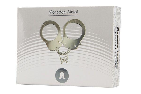 БДСМ наручники - Наручники металлические Adrien Lastic Handcuffs Metallic 1