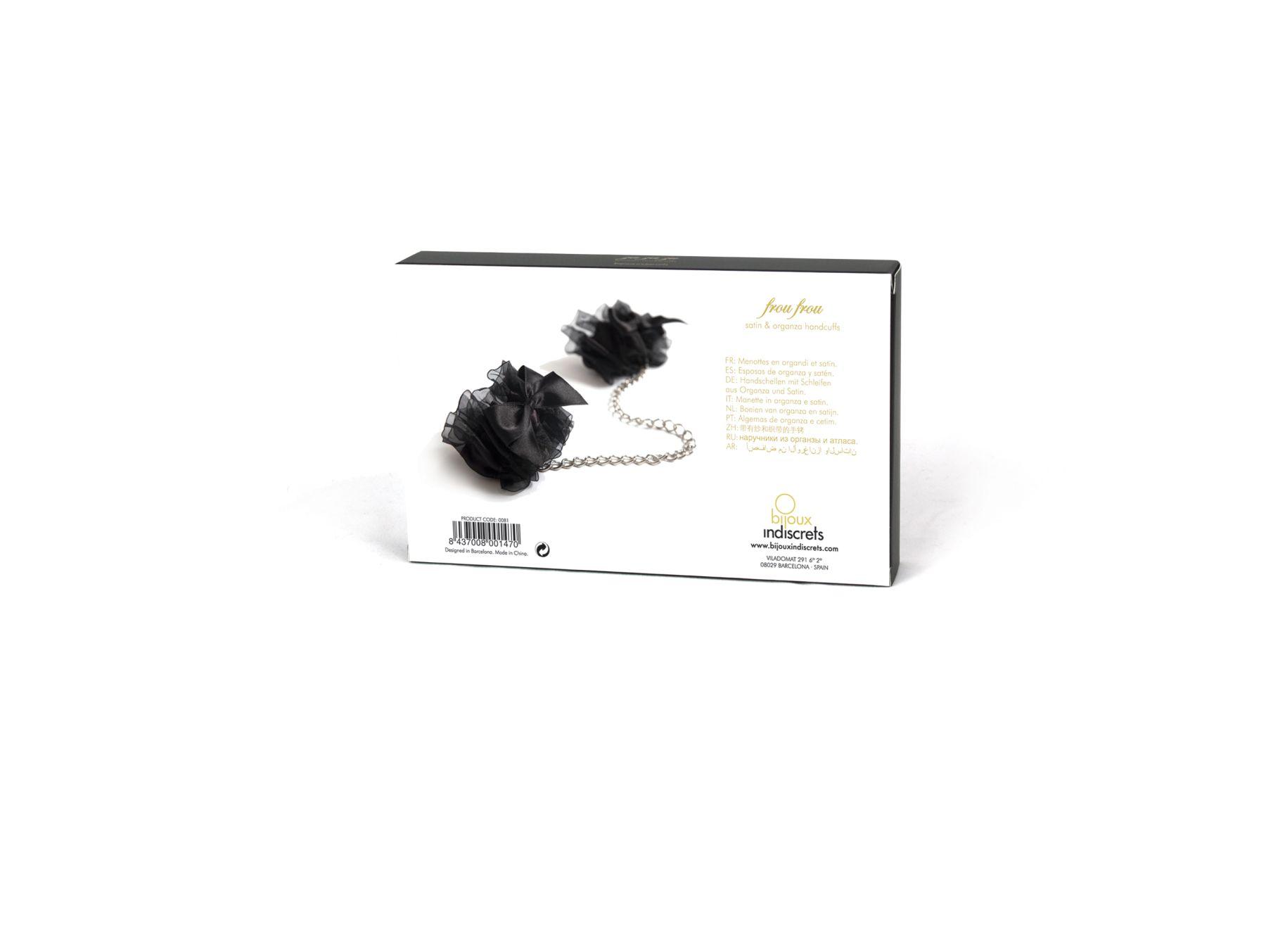 БДСМ наручники - Наручники Bijoux Indiscrets - Frou Frou Organza handcuffs 2