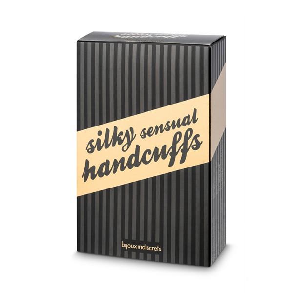 БДСМ наручники - Атласные ленты-наручники Silky Sensual Bijoux Indiscrets 3