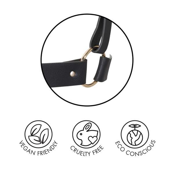БДСМ наручники - Наручники с поводком Indiscrets MAZE - T-Restraints Black 4
