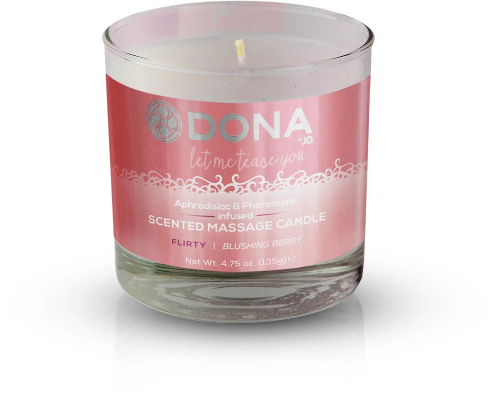 Массажные свечи - Массажная свеча DONA Scented Massage Candle Blushing Berry FLIRTY (135 гр)