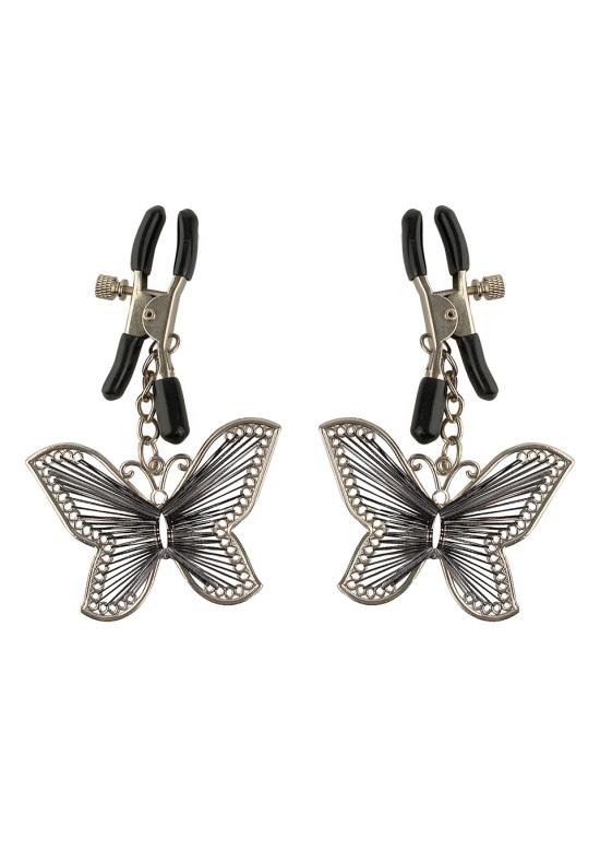 БДСМ аксессуары - Зажимы для сосков Fetish Fantasy Butterfly Nipple Clamps