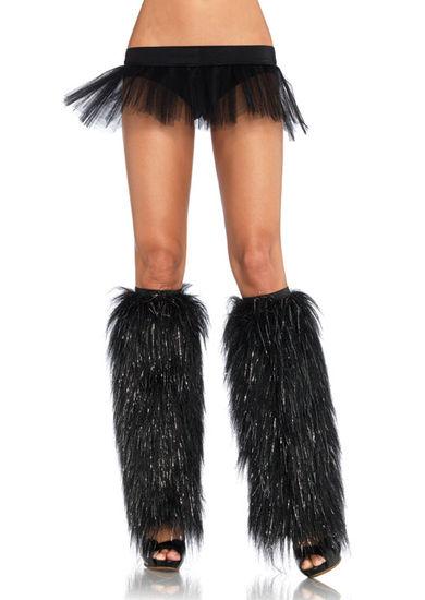 Аксессуары для эротического образа - Гетры Пушистые ножки, черный