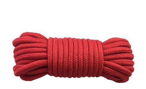 БДСМ наручники - Веревка для бондажа BONDAGE ROPE RED