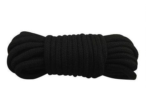 БДСМ наручники - Веревка для бондажа BONDAGE ROPE BLACK