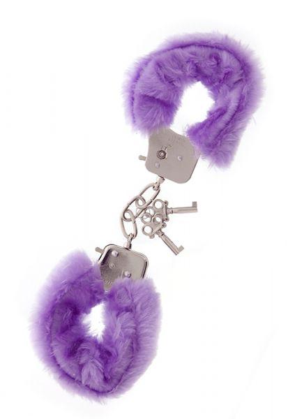 БДСМ наручники - Наручники Metal Handcuff with Plush, LAVENDER